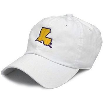 LA Baton Rouge Gameday Hat in White by State Traditions