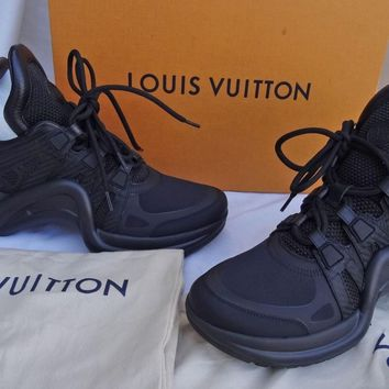 Louis Vuitton Archlight Sneaker Shoes BLACK SZ 38.5 AUTHENTIC NEW IN BOX ITALY