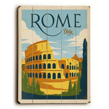 Rome Italy by Anderson Design Group Wood Sign