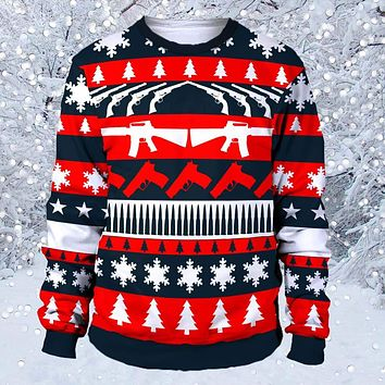 Second amendment ugly christmas sweater