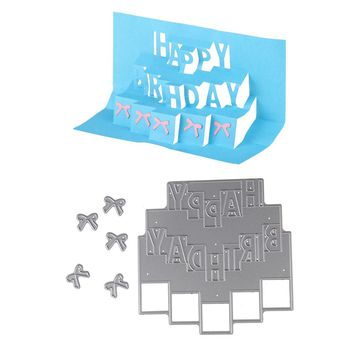 94*95mm Customize Happy Birthday Embossing Steel Cutting Dies Stencils DIY Scrapbooking Card Album Photo Template Metal Craft
