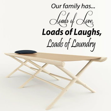 Wording Wall Decals Family Quote Lots Of Love Laughs Laundry Home Art Mural Vinyl Decal Sticker Living Room Interior Design Decor KG718