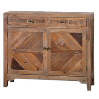 Uttermost Hesperos Reclaimed Wood Console Cabinet - 24415