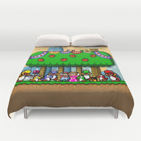 Super Mario World Happy Ending Duvet Cover by Likelikes