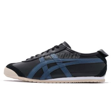 Asics Onitsuka Tiger Mexico 66 Black Blue Men Running Shoes Sneakers D4J2L-9058