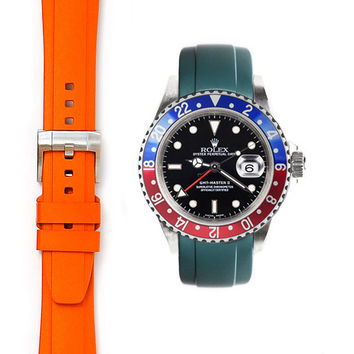 Everest Curved End Rubber with Tang Buckle for Rolex GMT Master I and II