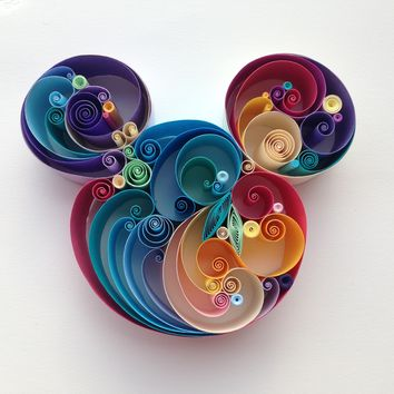 """Quilled paper art: """"never stop dreaming"""""""