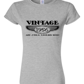 Vintage 1956 And Still Looking Good 59th Bday T Shirt Ladies Men Style Vintage Shirt