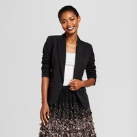 Women's Bi-Stretch Twill Blazer - A New Day™ Black 2
