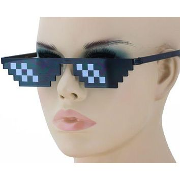Thug Life Attitude Sunglasses 8 Bit Pixel Deal With IT Unisex Glass Eyewear NEW