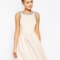 ASOS Embellished Armhole Scuba Skater Dress