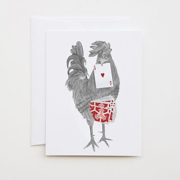 Petey Duval Key West Gypsy Rooster Greeting Card