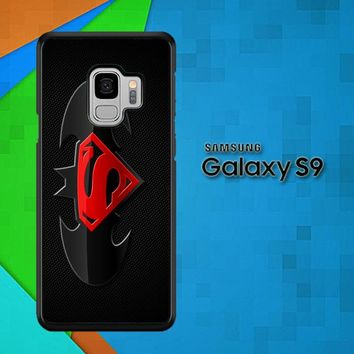 Batman And Superman Logo F0154 Samsung Galaxy S9 Case
