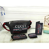 GUCCI Fashion Waist Bag Wallet Purse Clutch bag Set Four Piece