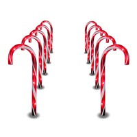 Set of 10 Christmas Candy Cane Pathway  Christmas  Decoration Lights
