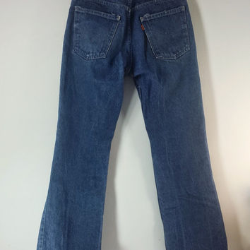 Vintage LEVI'S Jeans 20517 0217 Orange Tab - Saddleman Boot Cut - SIZE 33 x 36 or 32 x 31