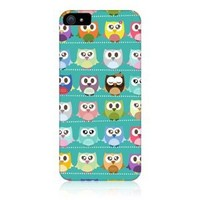 Head Case Designs Kawaii Green Owl Patterned Protective Back Case Cover for Apple iPhone 5 5s