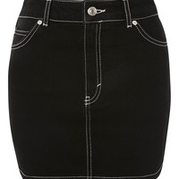 MOTO Contrast Stitch Mini Skirt | Topshop