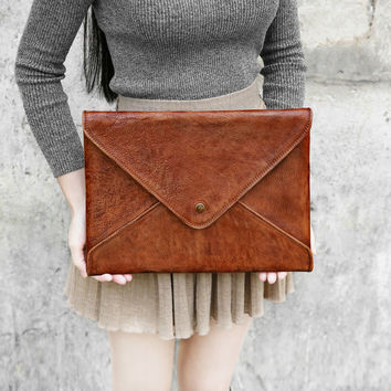 Leather Laptop Sleeve Macbook Case Felt Sleeve Tablet Case for Macbook Pro 13 ''Retina Document Christmas Gift