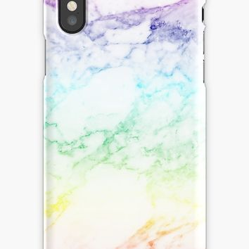 'RAINBOW MARBLE' iPhone Case by sofiedahlberg