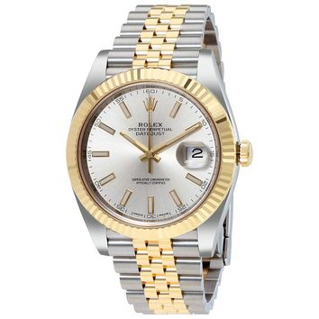 Rolex Datejust41 Silver Dial Steel and 18K Yellow Gold Jubilee Mens Watch