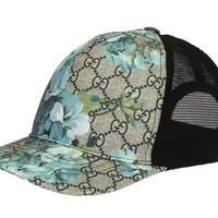 NEW GUCCI BLOOMS MEN'S SUPREME GG GUCISSIMA BASEBALL CAP HAT 58/M MEDIUM