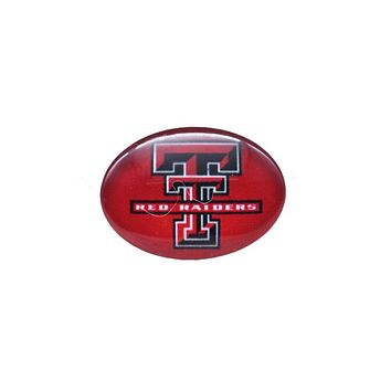 Snap Button 18mmX25mm NCAA Texas Tech Red Raiders Charms Interchangeable Buttons Bracelet Basketball Fans Gift Paty Birthday