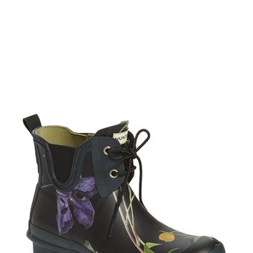 Hunter 'Royal Horticultural Society' Waterproof Lace-Up Short Rain Boot (Women) | Nordstrom