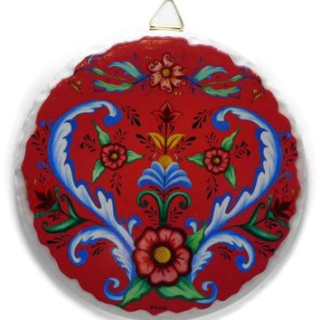 Decor Wall Plaque: Rosemaling