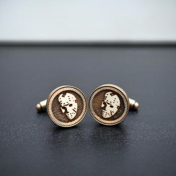Friday the 13th Cufflinks - Vintage style acrylic cuff links