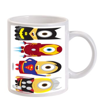 Gift Mugs | Minion Despicable Me The Avengers Thor Batman Superman Ironman Super Heroes Ceramic Coffee Mugs