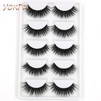 YOKPN Quality Eyelashes 3D Mink Lashes Natural Long Mink Eyelashes 3D False Eyelashes Full Strip Lashes Makeup Tools For Women