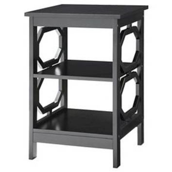 Omega End Table Black - Convenience Concepts