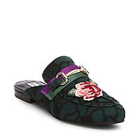 Embroidered Open Back Loafers | Steve Madden KANDI