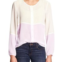 Factory Colorblock Slouchy Blouse
