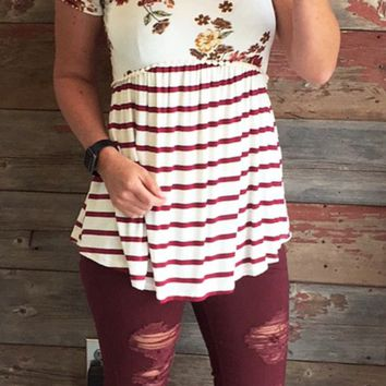 Distressed Cuffed Burgundy Skinnies