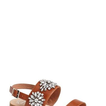 Women's Jeffrey Campbell 'Dola' Jeweled Leather Sandal,