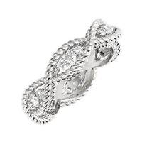 Women's Roberto Coin 'New Barocco' Diamond Band Ring