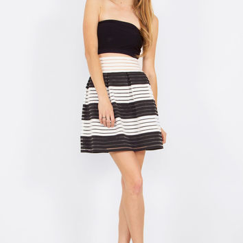Sugar Lips Show Your Stripes Structured Skirt
