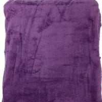 Queen Blanket Sumptuously Soft Plush Coral Fleece Mega Throw/reversible Bedspread (Purple)