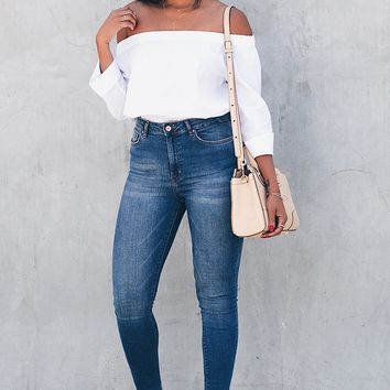 Cuffed Off-the-Shoulder Top