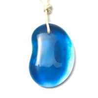 Glass Necklace Deep Lake Blue by The Wild Willows
