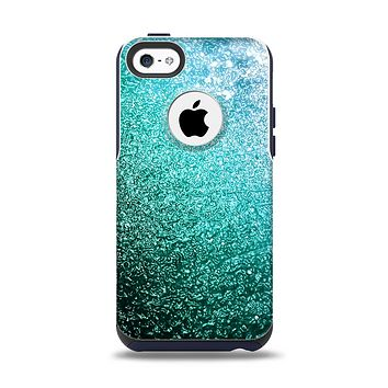 The Grungy Teal Texture Apple iPhone 5c Otterbox Commuter Case Skin Set