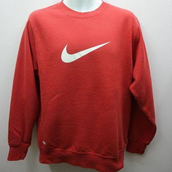 DCCKUN3 Nike Manchester United Sweatshirt Big Logo Sports Wear Street Wear Round Neck Pull Over Sweater