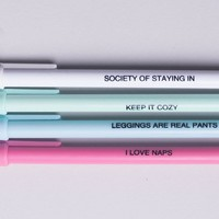 I LOVE NAPS Pen Set in Pastel Colors