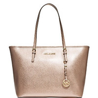 Michael Michael Kors Saffiano Leather Jet Set Travel Zip Tote