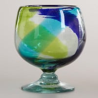 Cool-Toned Swirl All-Purpose Glasses, Set of 2 - World Market