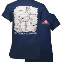 Southern Couture Preppy Paisley Giraffe Arrows T-Shirt