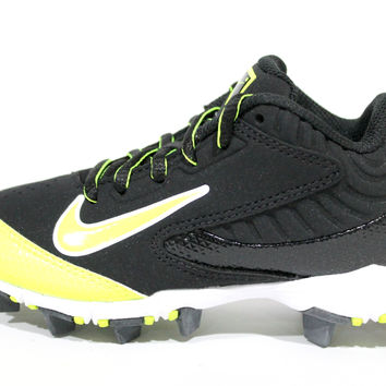 Nike Kid's Huarache Keystone Low BG Black/Volt Baseball Cleats