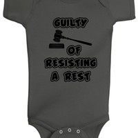 Baby Boy Guilty Of Resisting A Rest Bodysuit